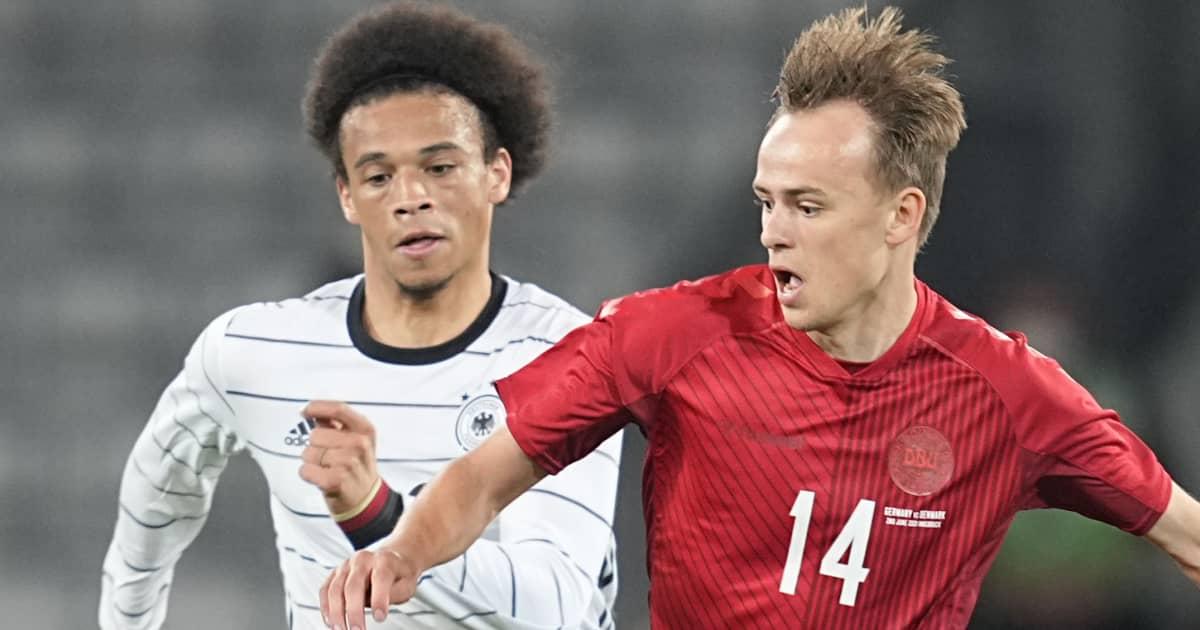 Leroy Sane and Mikkel Damsgaard, Germany v Denmark, 2021, TEAMtalk
