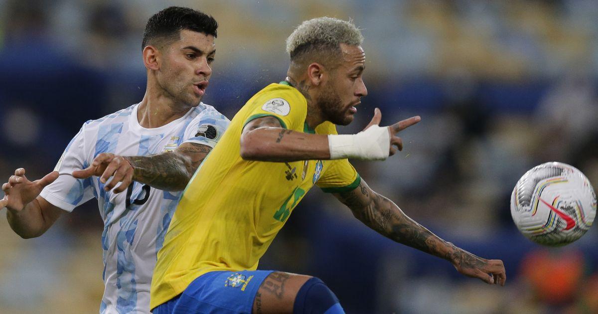 Cristian Romero Neymar Copa America final TEAMtalk