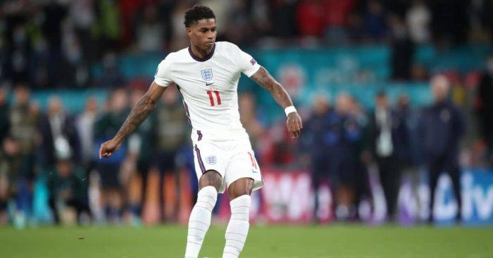 Marcus Rashford takes penalty Italy v England Euro 2020