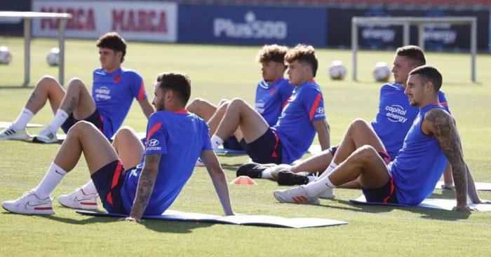 Saul Niguez, Mario Hermoso Atletico Madrid training July 2021