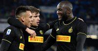 Lautaro Martinez, Nicolo Barella, Romelu Lukaku, Inter Milan celeb