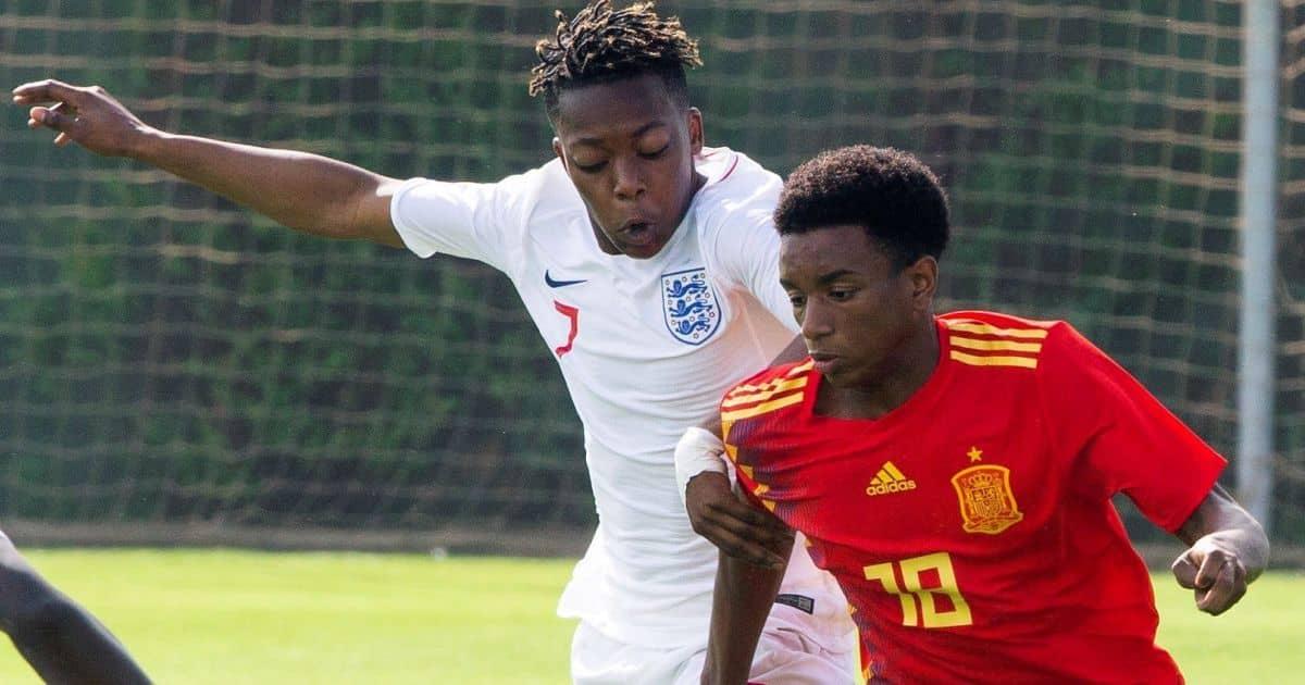 Karamoko Dembele, Alejandro Balde, U17s international England v Spain