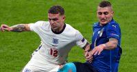 Kieran Trippier, Marco Verratti, England v Italy Euro 2020 final