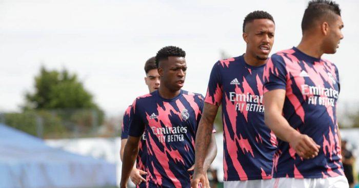 Vinicius Junior, Eder Militao, Casemiro Real Madrid May 2021