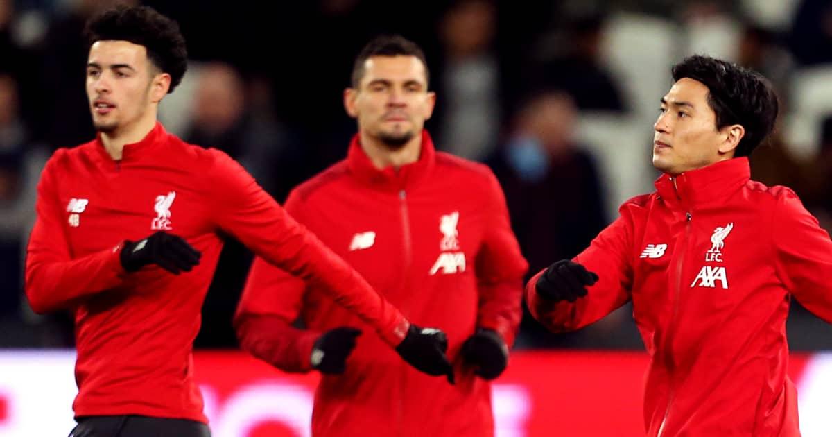 Curtis Jones, Dejan Lovren, Takumi Minamino, Liverpool training, 2020