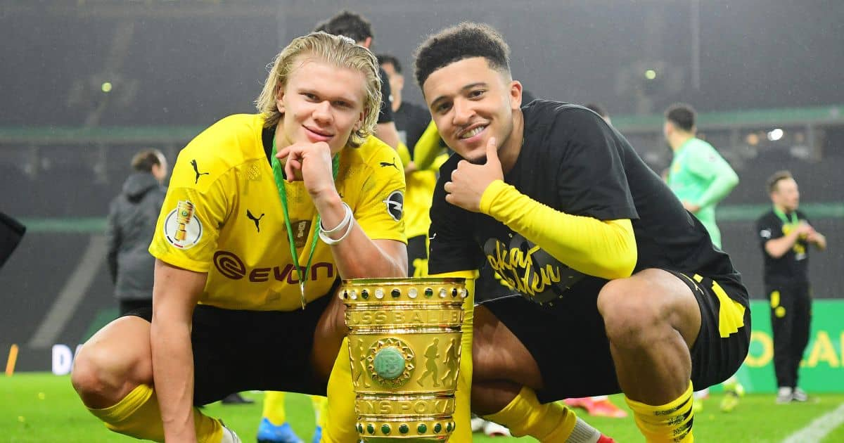 Erling Haaland, Jadon Sancho Borussia Dortmund May 2021