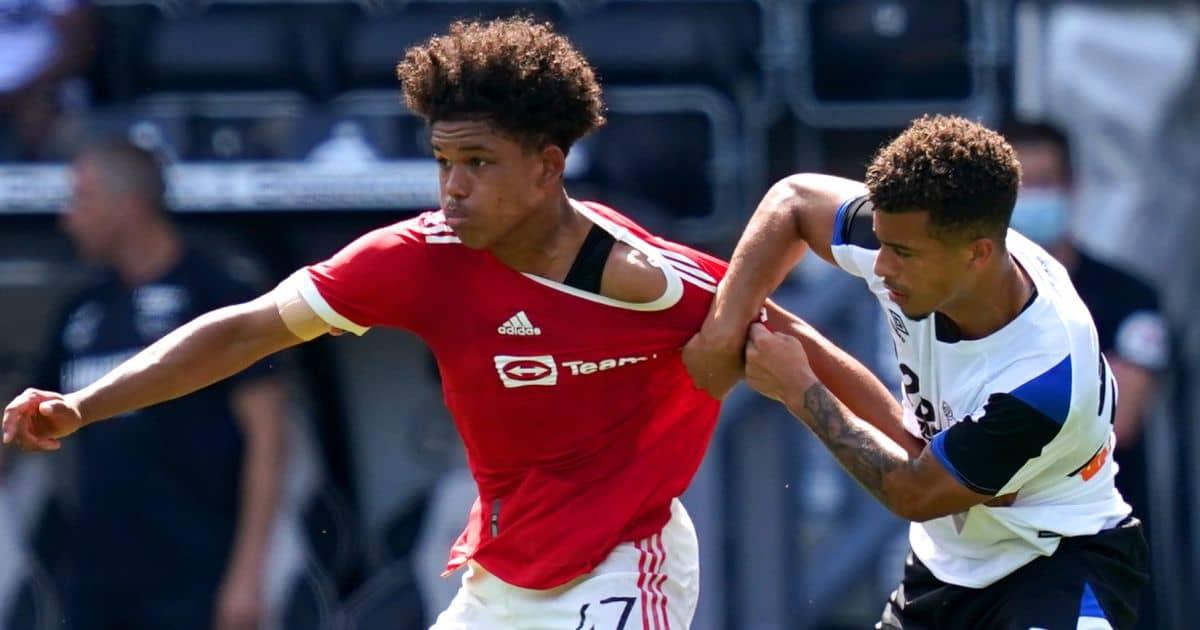 Shola Shoretire Man Utd v Derby friendly TEAMtalk