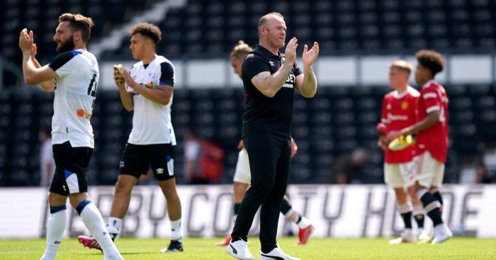 Wayne Rooney Derby v Man Utd July 2021