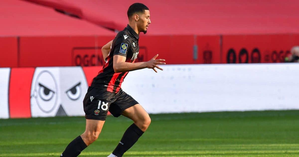 William Saliba Nice, on loan from Arsenal, February 2021