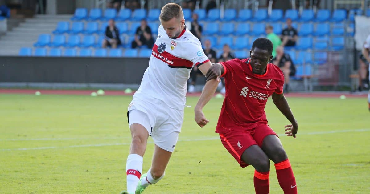 Sasa Kalajdzic, Ibrahima Konate Stuttgart v Liverpool July 2021
