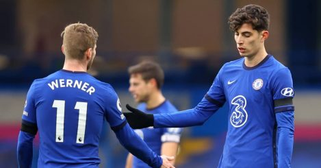 Timo Werner and Kai Havertz, Chelsea, 2021