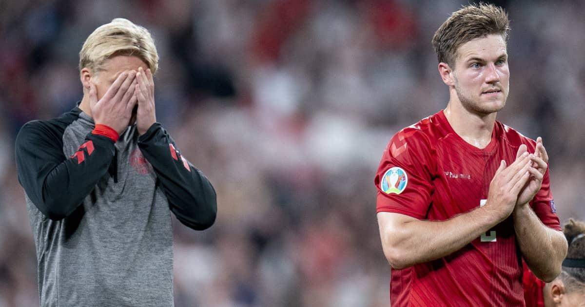 Kasper Dolberg and Joachim Andersen, Denmark, Euro 2020