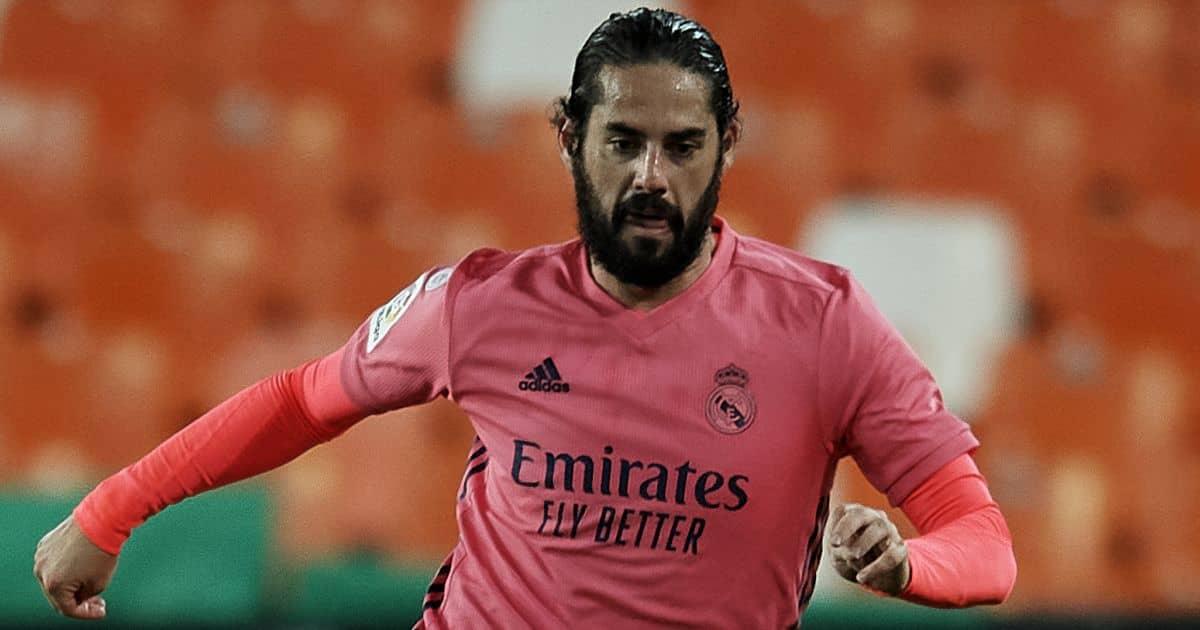 Isco, Real Madrid midfielder, pink kit