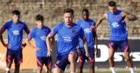 Saul Niguez Atletico Madrid pre-season training July 2021