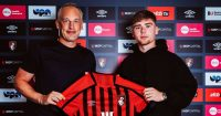 Leif Davis signs for Bournemouth from Leeds (pic via AFC Bournemouth)