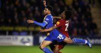Yasser Larouci, Josh Laurent Shrewsbury v Liverpool January 2020