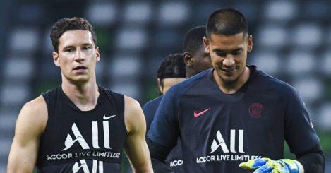 Julian Draxler and Alphonse Areola, PSG