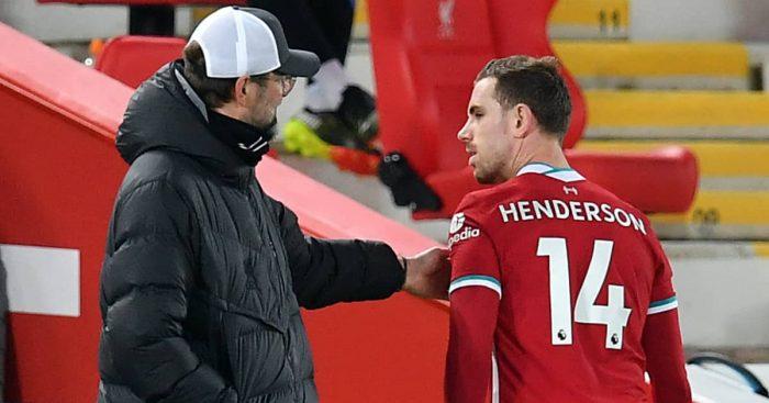 Jurgen Klopp and Jordan Henderson, Liverpool, 2021