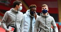 Andreas Christensen, Tammy Abraham and Tio Werner, Chelsea, 2021