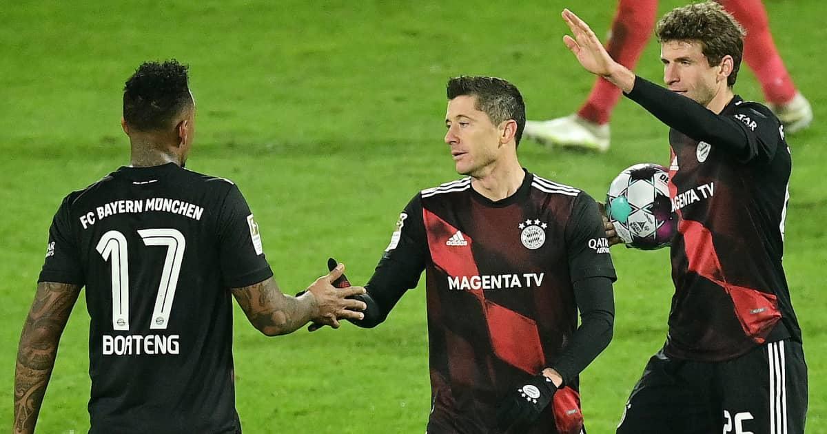 Jerome Boateng, Robert Lewandowski, Thomas Muller, Bayern Munich, 2020