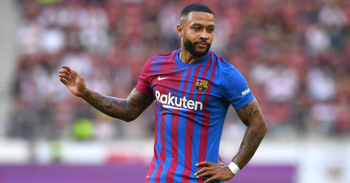 Memphis Depay Barcelona debut v Stuttgart July 2021