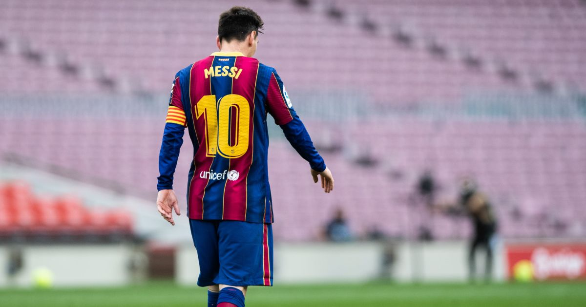 Lionel Messi Empty Camp Nou May 2021