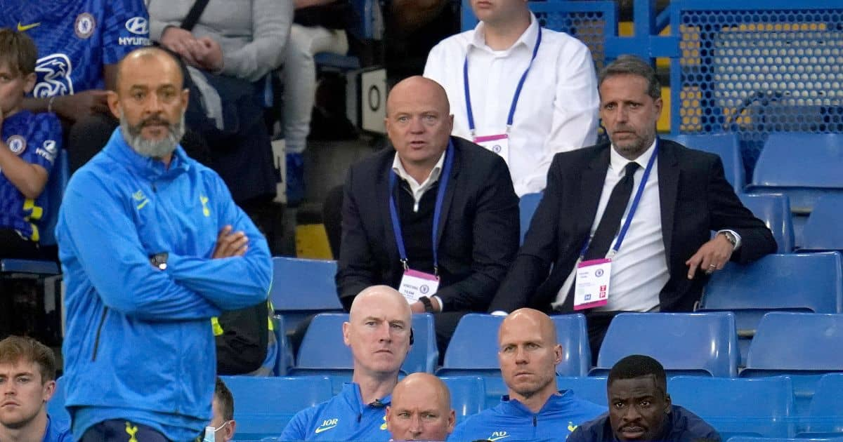 Nuno Espirito Santo, Fabio Paratici watching Tottenham Mind Series v Chelsea
