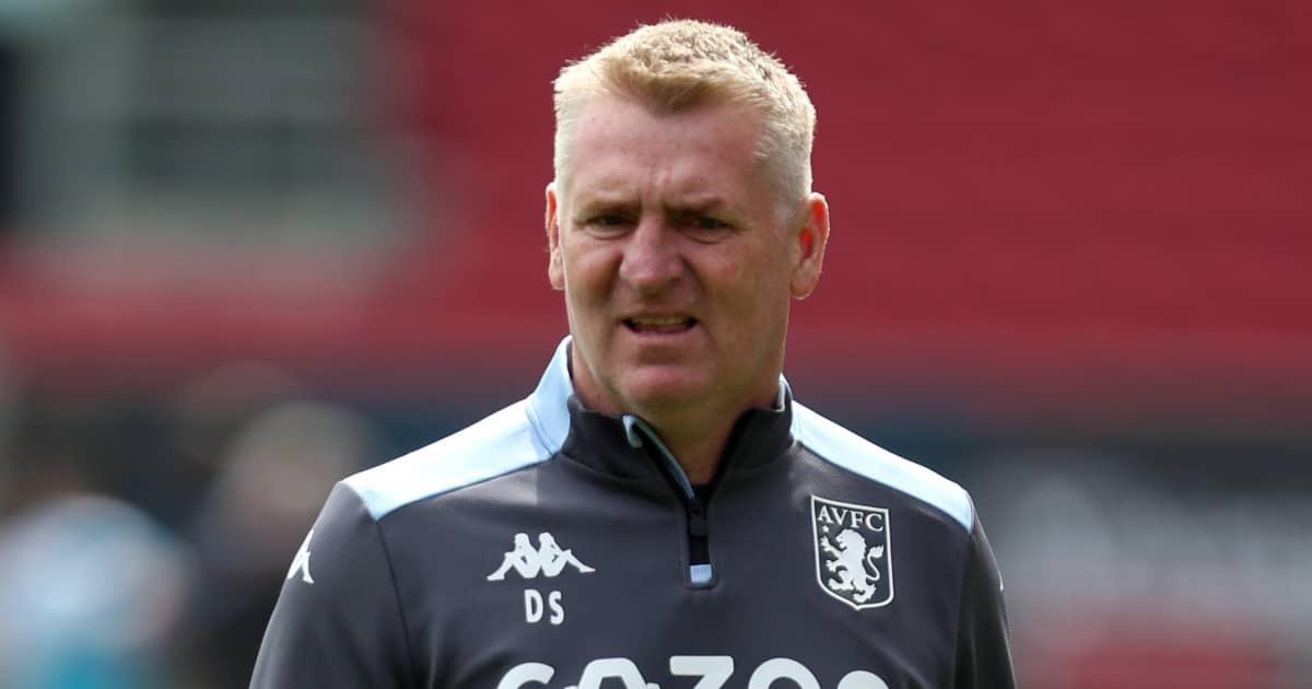 Villa boss Dean Smith staring into the distance