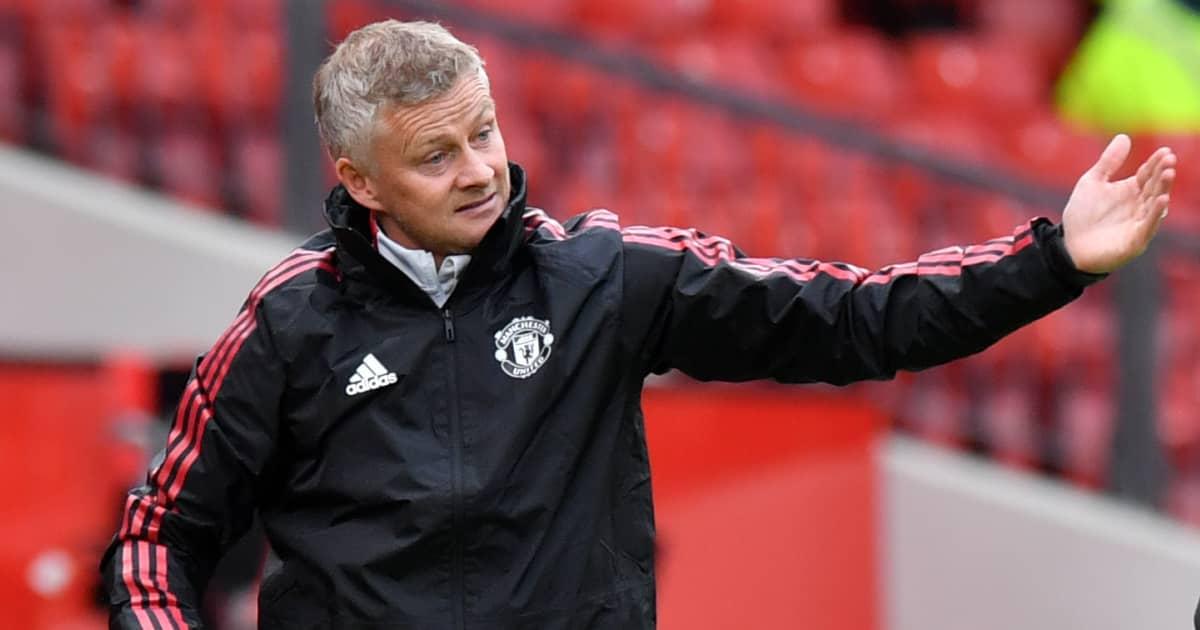 Le manager de Man Utd, Ole Gunnar Solskjaer, gesticule en pré-saison