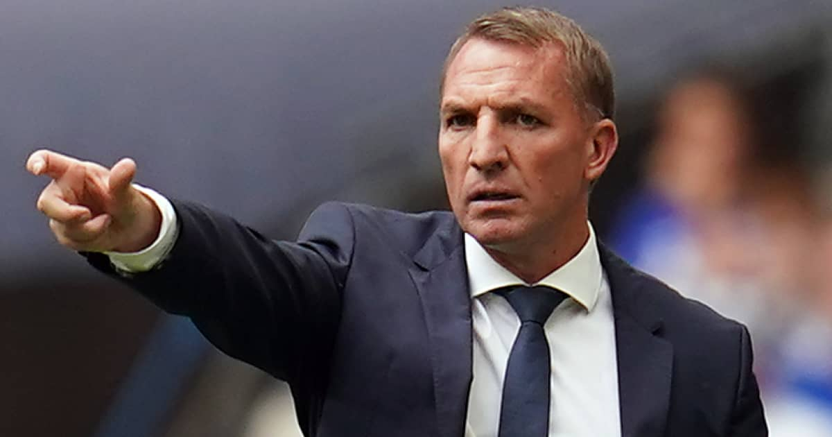 Leicester manager Brendan Rodgers during the 2021 Community Shield