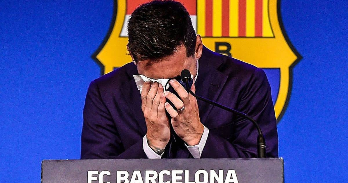 Messi wipes back tears in Barcelona farewell; gives hint over next move