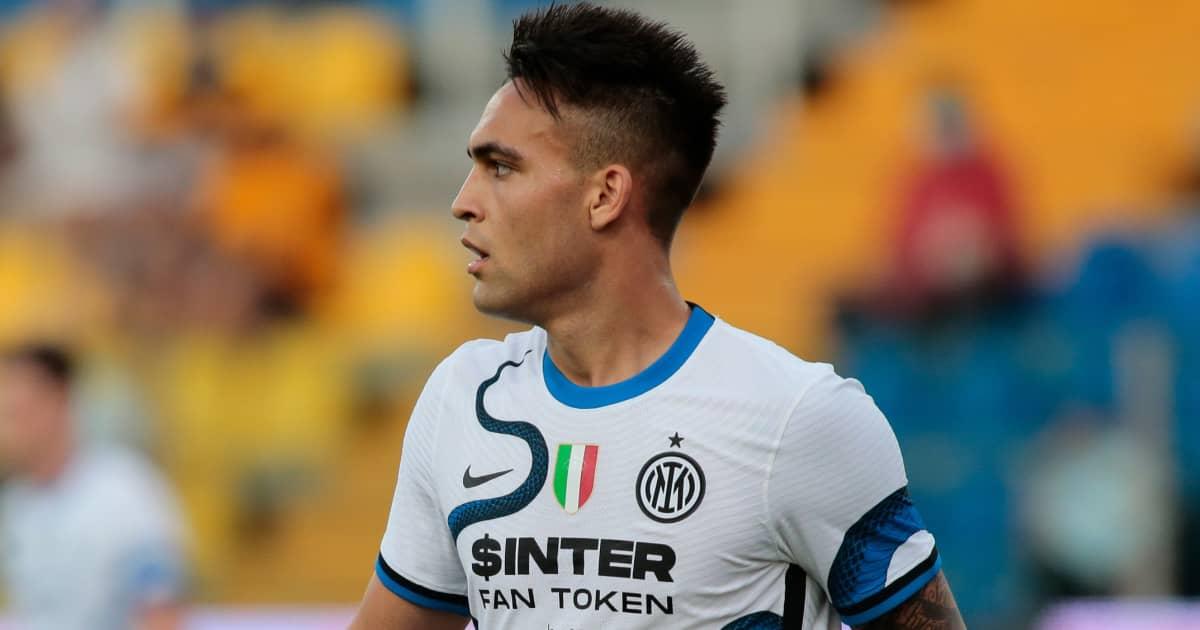 Inter Milan striker Lautaro Martinez during pre-season 2021
