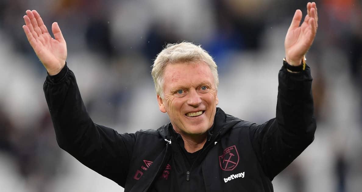 West Ham boss David Moyes smiling after a Premier League win
