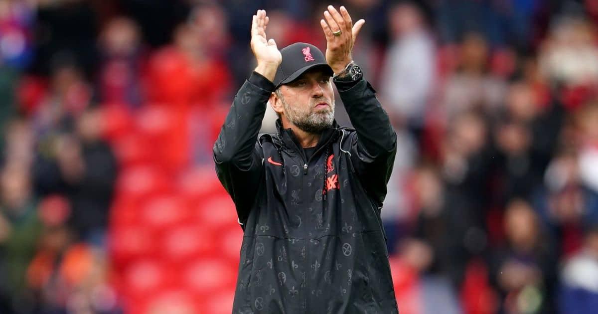 Liverpool boss Jurgen klopp pre-season friendly Anfield August 2021