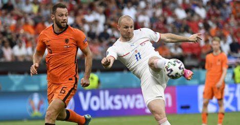 Stefan De Vrij Michael Kremncik Netherlands Czech Republic Euro 2020