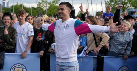 Jack Grealish introductory press conference with Man City
