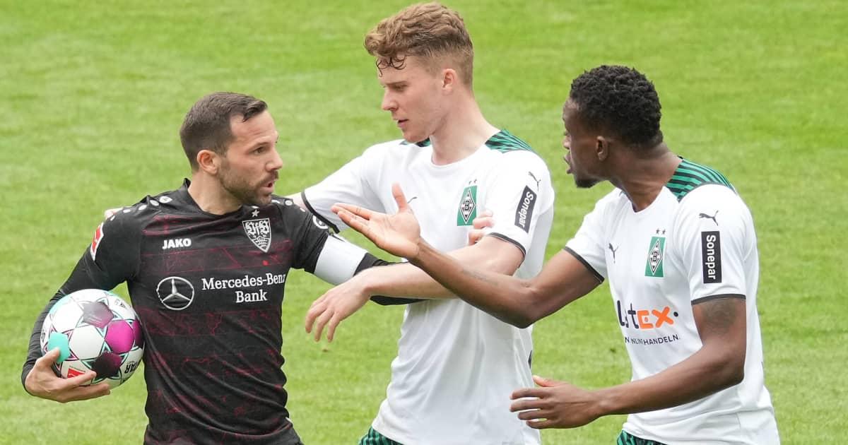 Borussia Monchengladbach midfielder Denis Zakari playing in the Bundesliga 2021