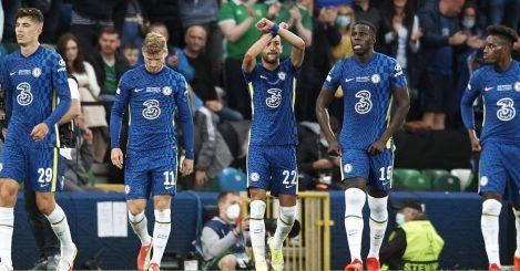Hakim Ziyech celebrates for Chelsea