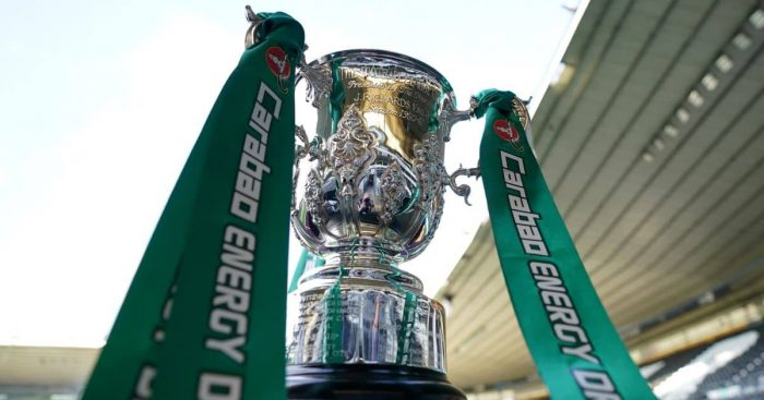 Carabao Cup trophy on display