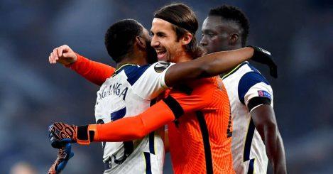 Japhet Tanganga, Alfie Whiteman celebrate Tottenham Europa League win over Ludogorets