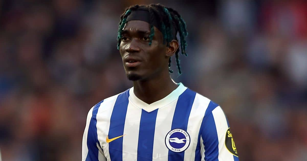Yves Bissouma during Brighton pre-season friendly in August 2021