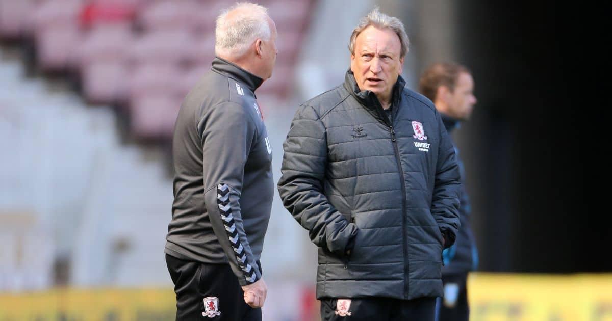 Neil Warnock Middlesbrough boss during 2020-21 season