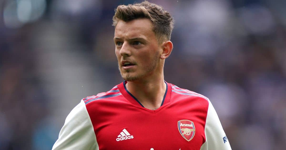 Arsenal's Ben White during The Mind Series match at the Tottenham Hotspur Stadium