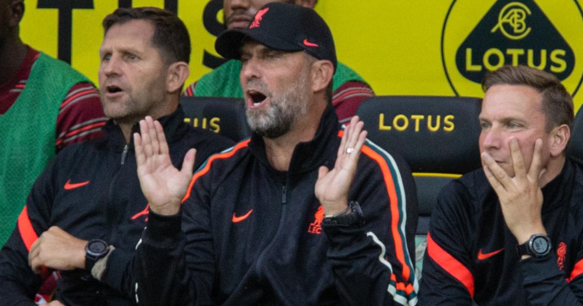 Liverpool boss Jurgen Klopp looking shocked