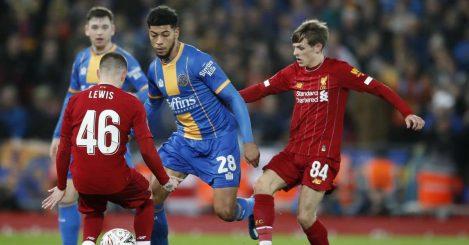 Liverpool midfielder Leighton Clarkson