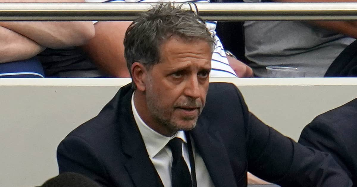 Tottenham director of football Fabio Paratici watching his side from the touchline