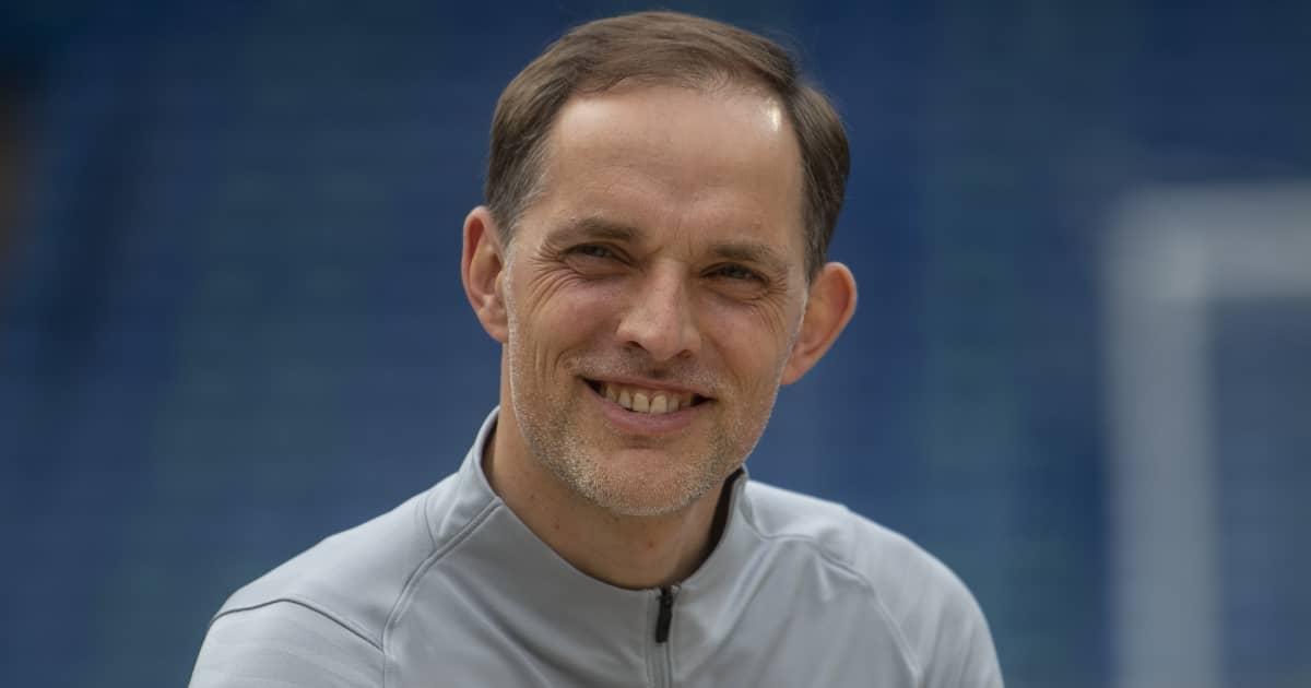 Chelsea manager Thomas Tuchel smiling in May 2021