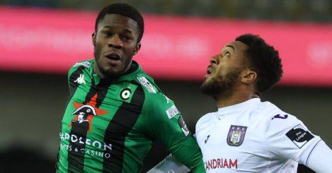 Ike Ugbo and Hannes Delcroix in Cercle Brugge v Anderlecht