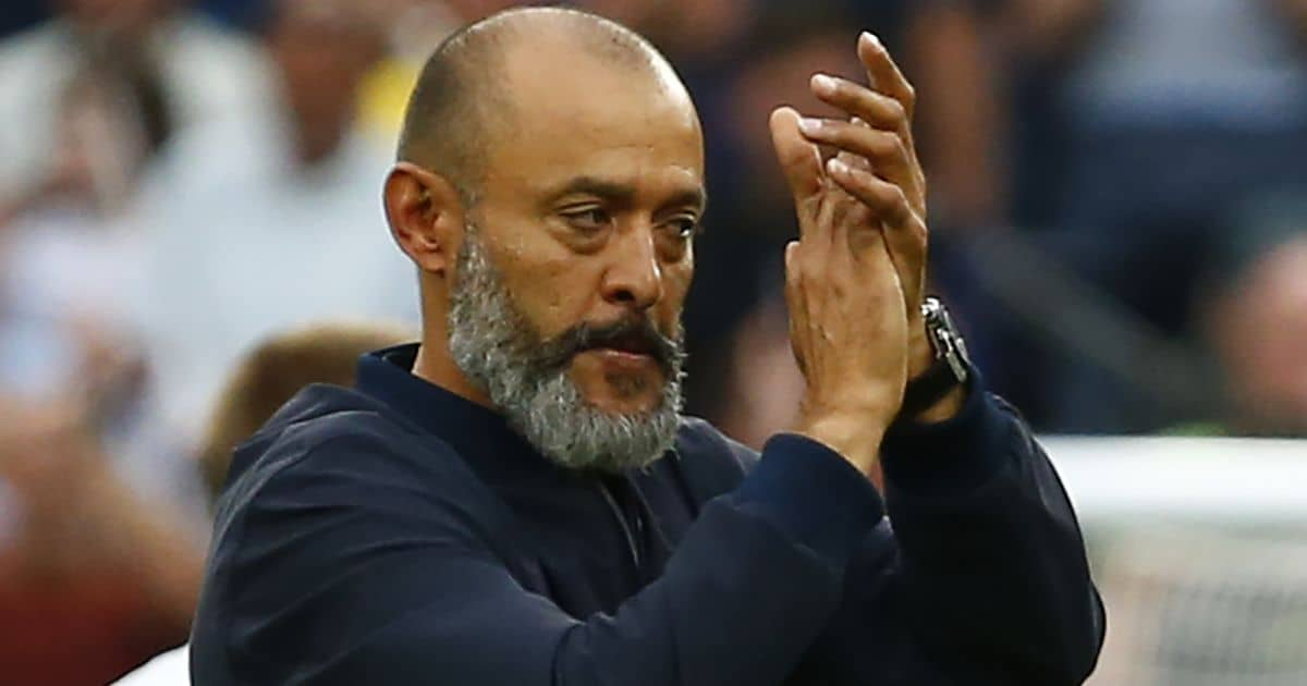 Tottenham Hotspur manager Nuno Espirito Santo after Premier League between Tottenham Hotspur and Manchester City at Tottenham Hotspur stadium