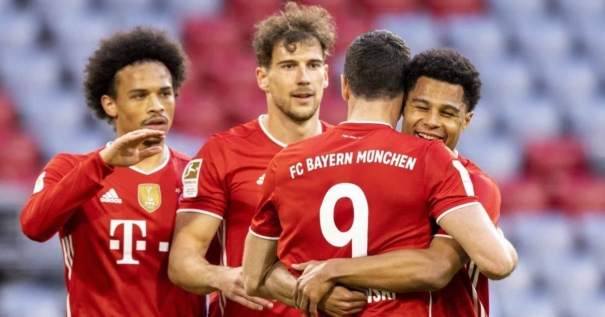 Leroy Sane, Leon Goretzka, Serge Gnabry, Robert Lewandowski Bayern Munich celeb